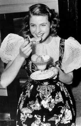 Producer David O. Selznick promoted Ingrid as Hollywood's natural girl. Her real name, features, hair and teeth. The Swedish milkmaid.